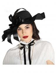 Schicker-Hut für Damen Kostüm-Accessoire schwarz