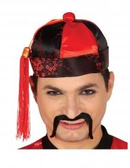 Asiatische-Kopfbedeckung für Erwachsene Länder-Zubehör schwarz-rot