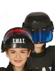 S.W.A.T.-Helm Kostüm-Zubehör für Fasching schwarz-blau
