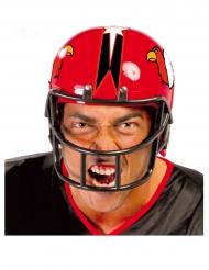 Football-Helm Kopfbedeckung für Erwachsene Faschings-Zubehör rot