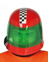 Rennfahrer-Helm für Kinder Faschings-Zubehör rot-grün
