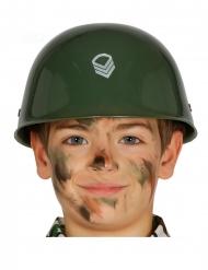 Militär Soldaten-Helm für Kinder Karnevals-Zubehör grün