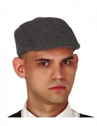 Tweed-Mütze Detektiv-Accessoire für Erwachsene grau