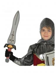 Ritter-Schwert für Kinder Spielzeug aus Schaumstoff grau-rot-gelb