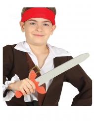 Piraten-Schwert Kinderspielzeug für Karneval grau-rot 57cm