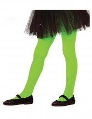 Strumpfhose für Kinder Kostümzubehör Neon-grün