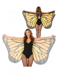 Zauberhafte Schmetterlings-Flügel Zubehör für Erwachsene orange-schwarz-weiss