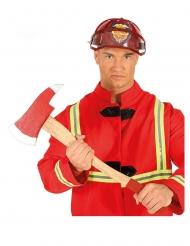 Feuerwehr-Spielzeug-Axt Kostümzubehör für Karneval rot-beige 60cm