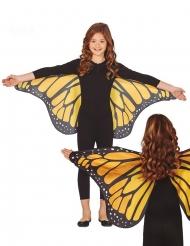 Übergroße Schmetterlingsflügel für Kinder schwarz-orange-weiss 110x50cm