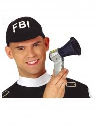 Polizei-Megafon Mini-Megafone schwarz-grau