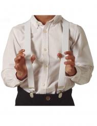 Klassische Hosenträger Kostümzubehör für Kinder weiss