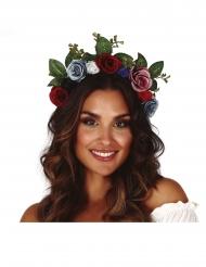 Blumenkranz Kopfschmuck für Damen Karnevals-Zubehör bunt