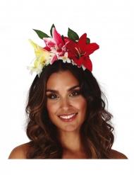 Blumen-Haarreif Kopfschmuck für Damen Kostüm-Accessoire bunt