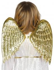 Zauberhafte Engelsflügel für Kinder Kostümzubehör goldfarben