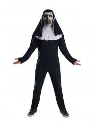 The Nun™-Kostüm-Set Oberteil und Maske Halloween-Zubehör schwarz-weiss