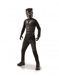 Black Panther™-Kostüm-Box für Kinder Faschings-Verkleidung schwarz