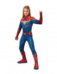 Captain Marvel™-Mädchenkostüm für Fasching rot-blau-goldfarben