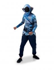 Fortnite™ Frozen Raven™-Kostüm Oberteil und Maske blau