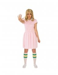 Eleven™-Kostüm für Damen Stranger Things™-Verkleidung rosafarben