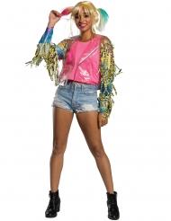 Stilvolle Harley Quinn™-Jacke Kostüm-Zubehör für Fasching transparent-bunt
