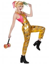 Birds of Prey™-Latzhose und Top Harley Quinn™ Kostüm für Halloween gold