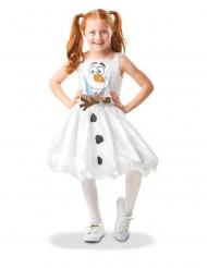 Olaf™-Kostüm für Mädchen Frozen™-Verkleidung weiss-braun