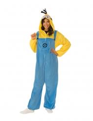 Minion™-Overall warmes Kostüm für Erwachsene blau-gelb