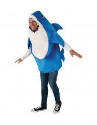 Daddy Shark™-Kostüm für Erwachsene Baby Shark™ Lizenz blau-weiß
