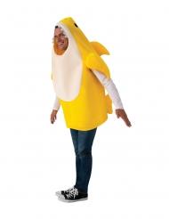 Baby Shark™-Kostüm mit Sound für Erwachsene Faschings-Kostüm gelb-weiss