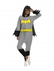 Batgirl™-Kostüm für Damen inkl. Maske Superheldin grau-schwarz-gelb