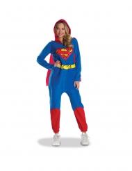 Supergirl™-Overall mit Umhang für Damen Faschings-Verkleidung blau-gelb-rot