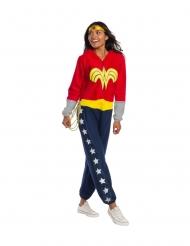 Wonder Woman™-Damenkostüm Lizenz rot-gelb-blau