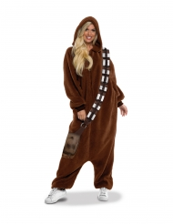 Chewbacca™-Kostüm Overall für Erwachsene Fasching braun