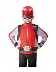 Power Rangers™-Kinderkostüm mit Maske Faschings-Verkleidung rot-silber
