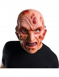 Hochwertige Freddy Krüger™-Maske Halloween-Accessoire beigefarben