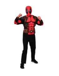 Deadpool™-Kostüm für Jugendliche Top mit Maske Halloween und Karneval rot-schwarz