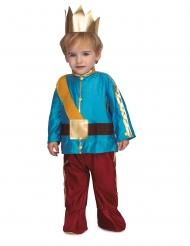 Süßes Prinzen-Kostüm für Kleinkinder Märchen-Verkleidung blau-braun-gold