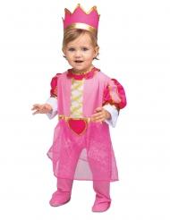 Königliches Kostüm für Kleinkinder Märchen-Verkleidung pink-golodfarben