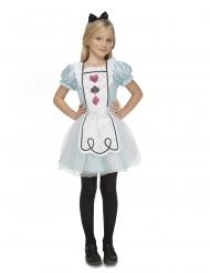 Alice-Kostüm für Mädchen Faschings-Verkleidung blau-weiss-schwarz