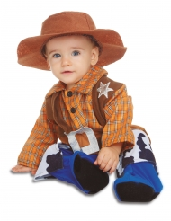 Cowboy-Kostüm für Jungen Faschings-Verkleidung braun-gelb-blau