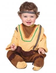 Indianer-Kostüm für Kleinkinder Western-Verkleidung für Fasching braun