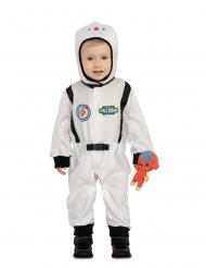 Astronauten-Kinderkostüm mit Alien-Plüschtier Fasching weiss-schwarz