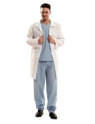 Facharzt Doktor-Kostüm für Herren Faschings-Verkleidung weiss-blau