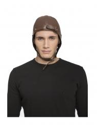 Fliegermütze Kostümzubehör für Erwachsene Retro-Accessoire braun