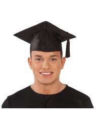 Doktoren-Hut Kostüm-Zubehör Talar-Absolventen-Kopfbedeckung schwarz