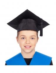 Absolventen-Hut für Kinder Doktor-Hut Fasching schwarz