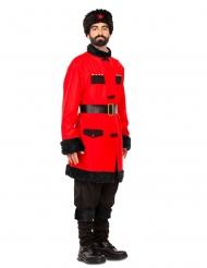 Russischer-Soldat Herrenkostüm für Fasching schwarz-rot