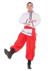 Russischer-Tänzer Herrenkostüm für Fasching rot-weiss