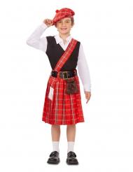 Schottisches-Kostüm für Jungen Faschings-Verkleidung rot-schwarz-weiss