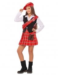 Schotten-Mädchenkostüm Faschings-Verkleidung rot-schwarz-weiss